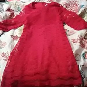A red Rare Editions size 14 dress in girls.